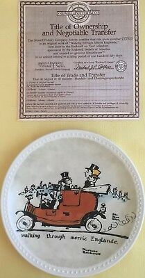 "Norman Rockwell On Tour Complete set WITH PAPERWORK 7.5"" Colletors Plates"
