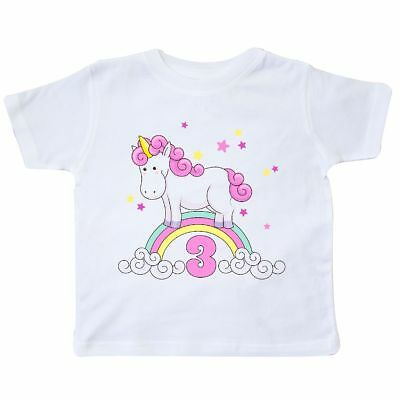 Inktastic Unicorn 3rd Birthday Toddler T Shirt Cute Tees Gift Child Preschooler