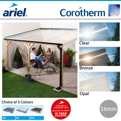 Polycarbonate Roofing Sheets | Lean-To Roofs | Carports | Ariel Corotherm | 16mm