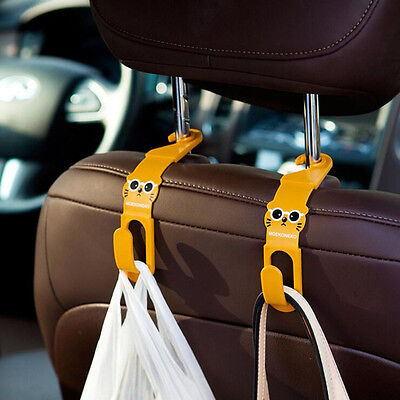2x Car Back Seat Grocery Bag Accessory Hanger Holder Hook Multi Use Tools