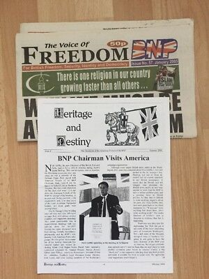 Voice Of Freedom / Heritage And Destiny British National Party BNP Front NF