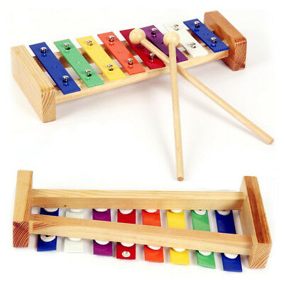 8-Note Wood Xylophone Percussion Musical Instrument Toy for Toddle Kid