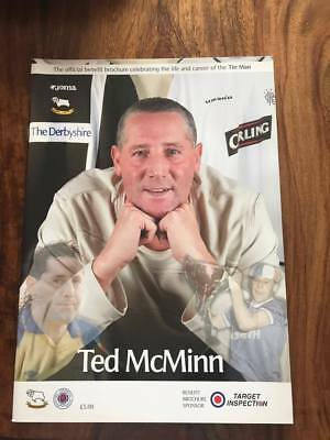 Ted Mcminn Testimonial Brochure Programme Derby V Glasgow Rangers Mint Free Post