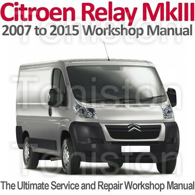 Citroen Relay/Jumper Mk3 2007 to 2015 Workshop, Service and Repair Manual on CD