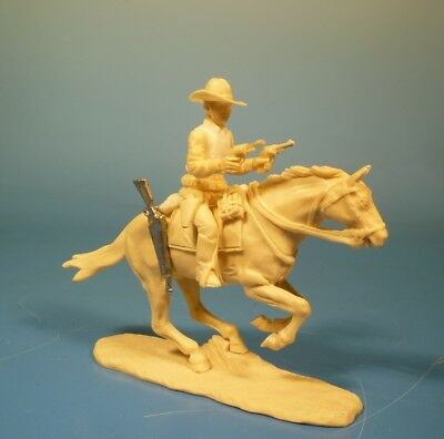 Lineol - Wild West Cowboy zu Pferd - 75mm Figur Bausatz - Resin Kit 1:24