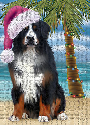 Summertime Bernese Mountain Dog on Beach Puzzle with Photo Tin PL2562 (551 pc.)