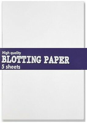 5 x SHEETS OF BLOTTING PAPER CALLIGRAPHY WHITE Size 445mm x 275mm 140gsm