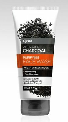 Optima Activated Charcoal Purifying Face Wash (200ml)