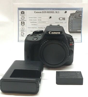 Canon EOS Rebel SL1 18.0 MP Digital SLR Camera (Body Only) 8k Shutter Count