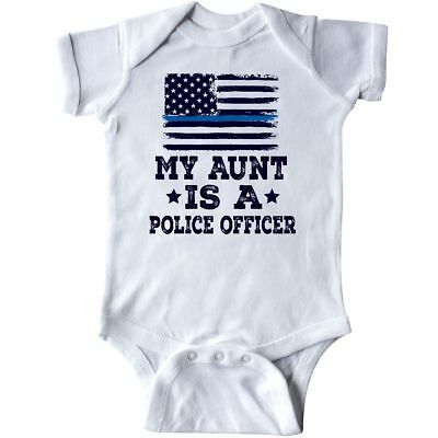 359aa15ca Inktastic Aunt Is A Police Officer Law Enforcement Infant Creeper Job Kids  Boys