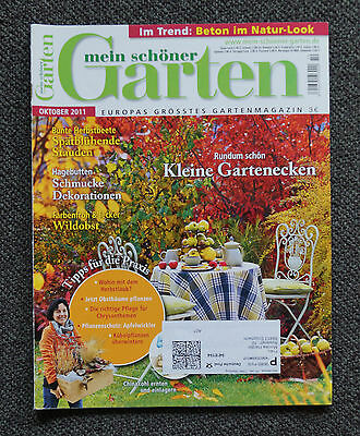 mein sch ner garten oktober 2017 europas gr sstes gartenmagazin ungelesen 1a eur 4 80. Black Bedroom Furniture Sets. Home Design Ideas