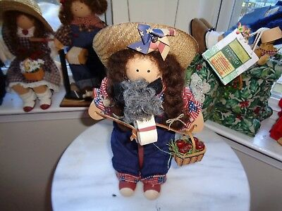 Longaberger Lizzie High Doll Named Paige Old Glory Outfit Americana Toy Horse