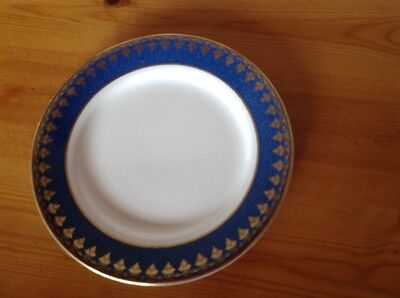George Jones & Sons crescent blue and gold plate 7 in