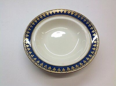 George Jones & Sons crescent blue and gold dish