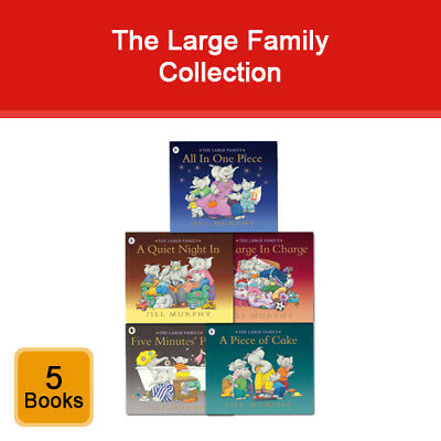 Jill Murphy Large Family series 5 books collection pack set NEW A Piece of Cake