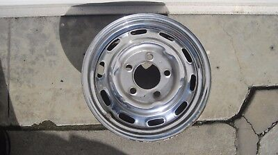 "Original LEMMERZ  Factory Porsche 911-912 CHROME 4 1/2"" X 15""  WHEEL DATE 3/1964"