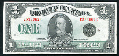 "DC-25o 1923 $1 ONE DOLLAR DOMINION OF CANADA ""BLACK SEAL"" EXTREMELY FINE"