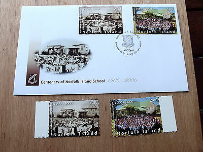 Norfolk Island - 2006 -Centenary of Norfolk Is School MNH stamps + FDC
