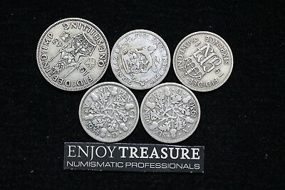Uk Gb Silver Coins Lot A72 Zj43