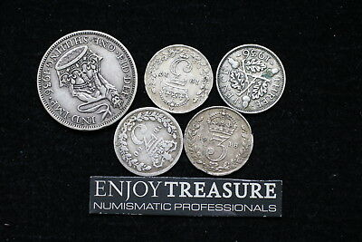 Uk Gb Silver Coins Lot A72 Zn16