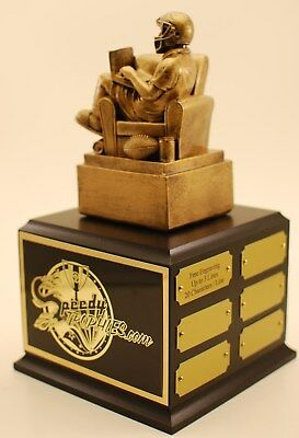 """Fantasy Football Trophy 12"""" 18 Year Armchair  Qb Free Engraving  Ships In 1 Day"""