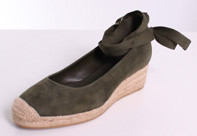 fc19d16fb TORY BURCH HEATHER Suede 40MM Espadrilles Wedges in Leccio -  298.00 ...