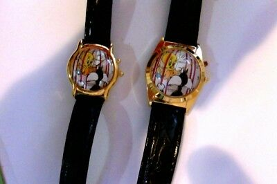 Sylvester and Tweety bird his and hers musical watches