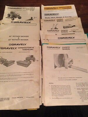 Gravely Assorted Attachment Manuals