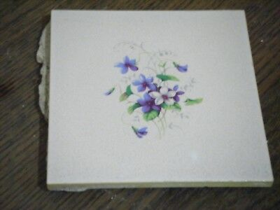 Reclaimed 1950's  / '60's Floral Wall Tile 6'' x 6'' -Original Shabby Chic!!