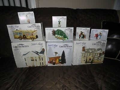 """Dept 56 Christmas Vacation """"LOT"""" Boss Shirley's House, Griswold House, ect.."""