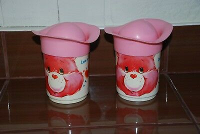Vintage Toys 2 Cup With Lid Care Bears Cupinours 1986