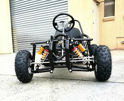 Off Road Go Kart Single Seat Adult 6.5Hp 196Cc Buggy Quad Atv 4 Wheeler Gokart