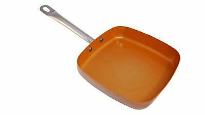 Copper Square Pan XL 12 x 12 x 2 Inch Deep Induction Non Stick Buy 1 Get 1 Free