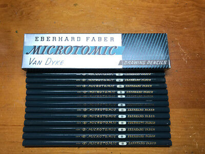 Eberhard Faber Microtomic B Vintage Pencils - NOS one dozen pencils in box