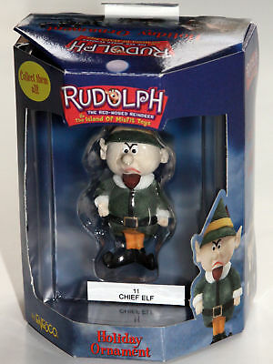 ** CHIEF ELF  ** Ornament Rudolph Island of Misfit Toys Enesco Mint New in Box
