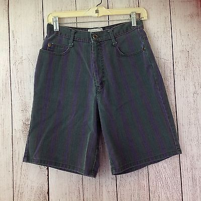 Vintage 90s Arizona Jeans Company Striped High Waisted Mom Shorts Ladies