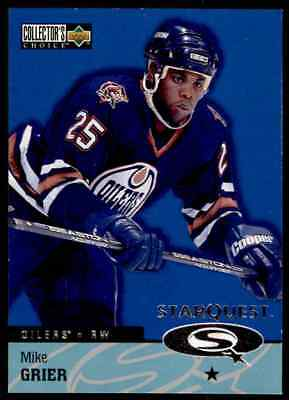 1997-98 Collector's Choice Star Quest  Mike Grier #SQ24