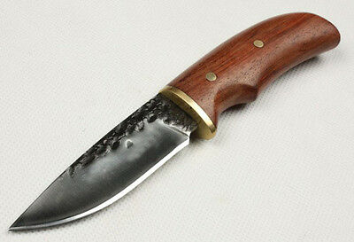 High carbon steel  Blade wood Handle Outdoor camping Hunting Knife CJHLH58