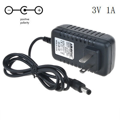 3V 1A 1000mA AC Adapter to DC Power Supply Charger Cord 5.5//2.1mm Plug TLCA