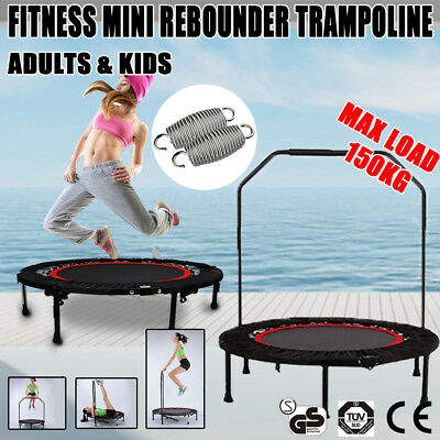 Exercise Indoor&Outdoor Mini Handrail Trampoline Workout Cardio Fitness Gym 40""