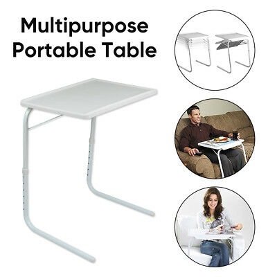 Adjustable Foldable Table Laptop Tray Portable Folding Desk Bed Mate TV Dinner