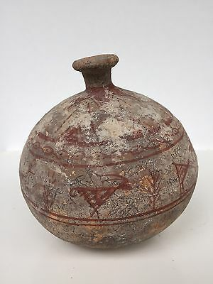 Beautiful Bronze Age Cypriot / East Mediterranean Painted Vessel 2800 BC C.O.A.
