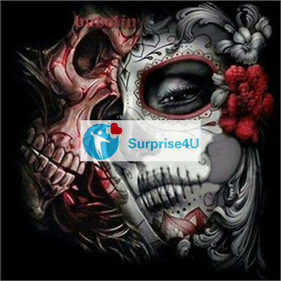Halloween Gift Home Decoration 5D DIY Diamond Painting Skull Woman Cross Stitch