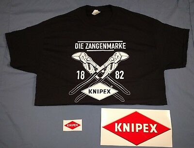 Knipex T-shirt, XL, stickers from 2017 SEMA Show, Die Zangenmarke 1882