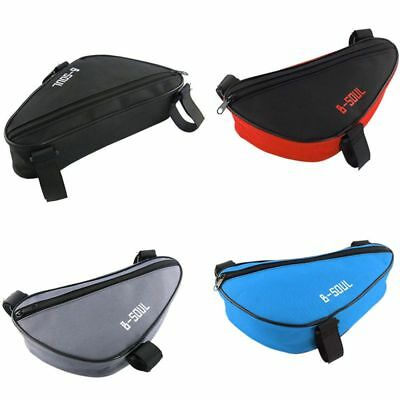 Triangle Bike Bicycle Cycling Front Tube Frame Pouch Bags Holder Saddle Pannier