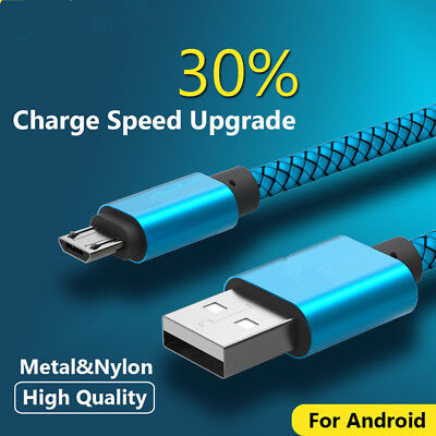 1M 2M 3M Strong Braided Heavy Duty Male Micro USB Data Charger Charging Cable