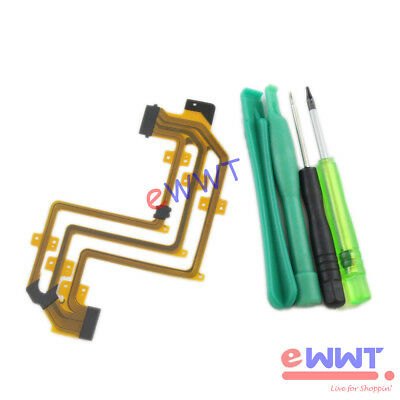 LCD Screen Ribbon Flex Cable + Tool for Sony SR52E SR62E SR82E Camcorder ZVFE084