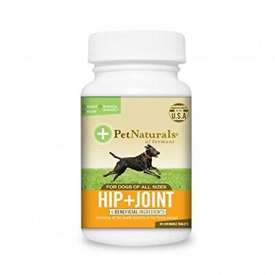 Pet Naturals of Vermont, Hip + Joint, Joint Supplements for Dogs, 90 Tablets