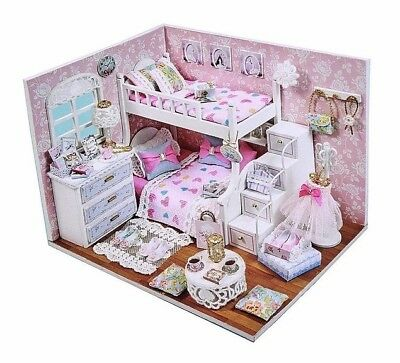 Dollhouse Dream Angels Bedroom DIY Room With Furniture 1:24 scale