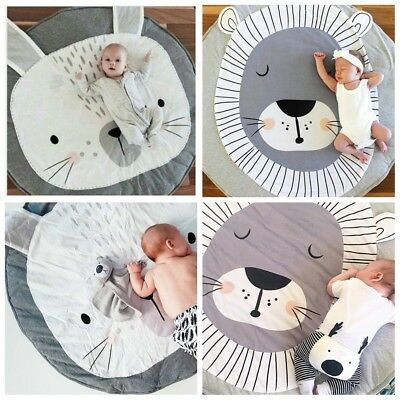 Soft Cotton Baby Gym Mat PlayMat Lay Sit Game Toy Tummy Time Blanket Floor Rug